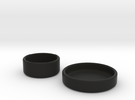 Petri Dish and Lid 35mm in Black Strong & Flexible