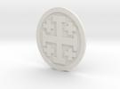 Crusader Cross Lapelforshapeways in White Strong & Flexible