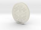 Crusader Cross Lapel in Transparent Acrylic
