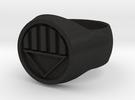 Black Lantern Ring Size V in Black Acrylic