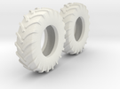 1:64 scale 18.4-30 Tires in White Strong & Flexible