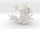 Double Trouble Frogs - 4cm in White Strong & Flexible