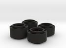 Mini-z F1 Wheelset with -2.5mm standard offset in Black Strong & Flexible