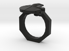 Finger Ring in Black Strong & Flexible