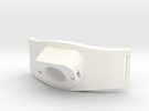 Bracelet Debitmetre V2b 2 in White Strong & Flexible Polished