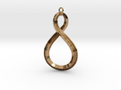 Mobius pendant in Polished Brass