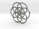 Flower of Life pattern - seed of life in Polished Silver