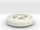 Gear Button in White Strong & Flexible
