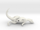 Psittacosaurus (sniffing breeze) 1:12 scale model in White Strong & Flexible