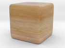 Cube Planet : Saturn, 1inch Without Rings in Full Color Sandstone