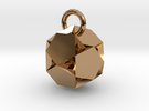 Hexagon Pendent in Polished Brass