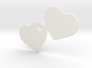LOVE 3D Hearts in White Strong & Flexible Polished