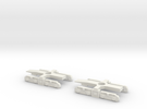 N Gauge Kirow Crane Bogies in White Strong & Flexible