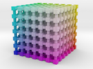 RGB Color Cube: 2 inch in Full Color Sandstone