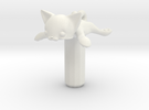 Round Flat Cat, Jack Protector 5.5x2.5 in White Strong & Flexible