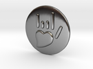 Coin-L - Handsign -  I love you in Premium Silver