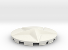 Star Cap For Shield Decoration in White Strong & Flexible