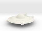 Selenite Violator  Saucer in White Strong & Flexible