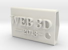KeyFobWeb3d2013BasqueCountry in White Strong & Flexible