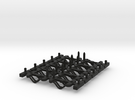 Couplings HST Coach Sprue Filleted in Black Strong & Flexible