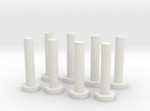 HO Scale Chilean Mill Spindles in White Strong & Flexible