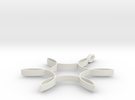Hexafoil Pendant 1/2-Size in White Strong & Flexible