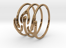 The Ripple Stacked Rings in Polished Brass