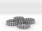 Crinkled Napkin Rings (4) in Raw Silver