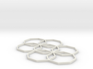 Octagon Star -  In:   3.5 w x 3.0 d x 0.1 h in White Strong & Flexible