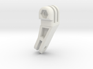 GoPro 25 Degree Angle Mount in White Strong & Flexible