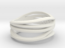 Maritha-Mall Ring Ring Size 8 in White Strong & Flexible