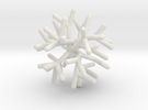 Sphere Tree 5cm (Irregular 4) in White Strong & Flexible