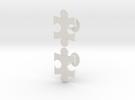 Jigsaw Cufflinks Set in White Strong & Flexible