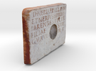"Roman Libation Inscription (6"") in Full Color Sandstone"
