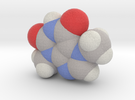 Theobromine molecule (x40,000,000, 1A = 4mm) in Full Color Sandstone
