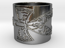 Ankh Ring Ring Size 10 in Premium Silver