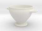 Greek Vase - Skyphos A in White Strong & Flexible