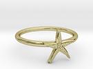 World's Best Starfish Midi Ring in 18k Gold