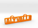 Aly Valli Name Tag in Orange Strong & Flexible Polished