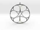 Ephemeral Cubic Shell Pendant in Premium Silver