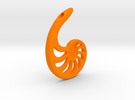 Nautilus Spiral: 6cm in Orange Strong & Flexible Polished