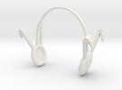 Dollfie Bunny Earmuffs in White Strong & Flexible