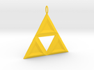 Triforce in Yellow Strong & Flexible Polished