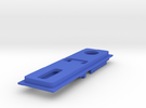 Interior Mount - 3mm - NO USB in Blue Strong & Flexible Polished