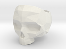 Lapidated Skull Ring Size 8 - 18.14 mm inner size in White Strong & Flexible