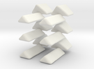 Octo-Star Cube Replacement Triangle Set in White Strong & Flexible