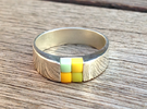 4-bit ring (US8 /⌀18.2mm) in Polished Silver