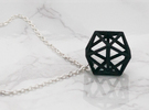Dodecahedron Pendant in Black Strong & Flexible