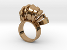 Nasu Ring Size 8 in Polished Brass