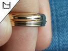 Custom Face Profile Ring in Polished Bronze